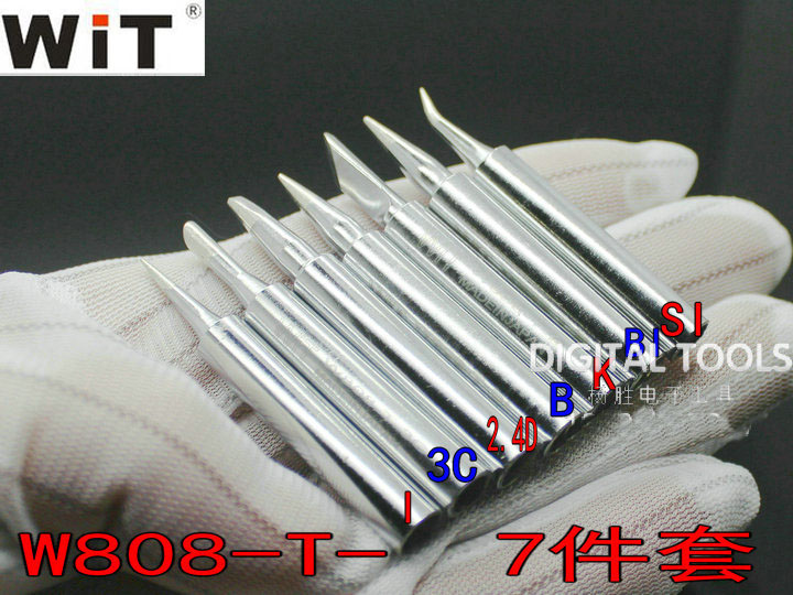 Original Japan WiT W808 Replaceable Soldering Iron Tip Ultra-durable Unleaded Just For W-808 Internal Heat Type