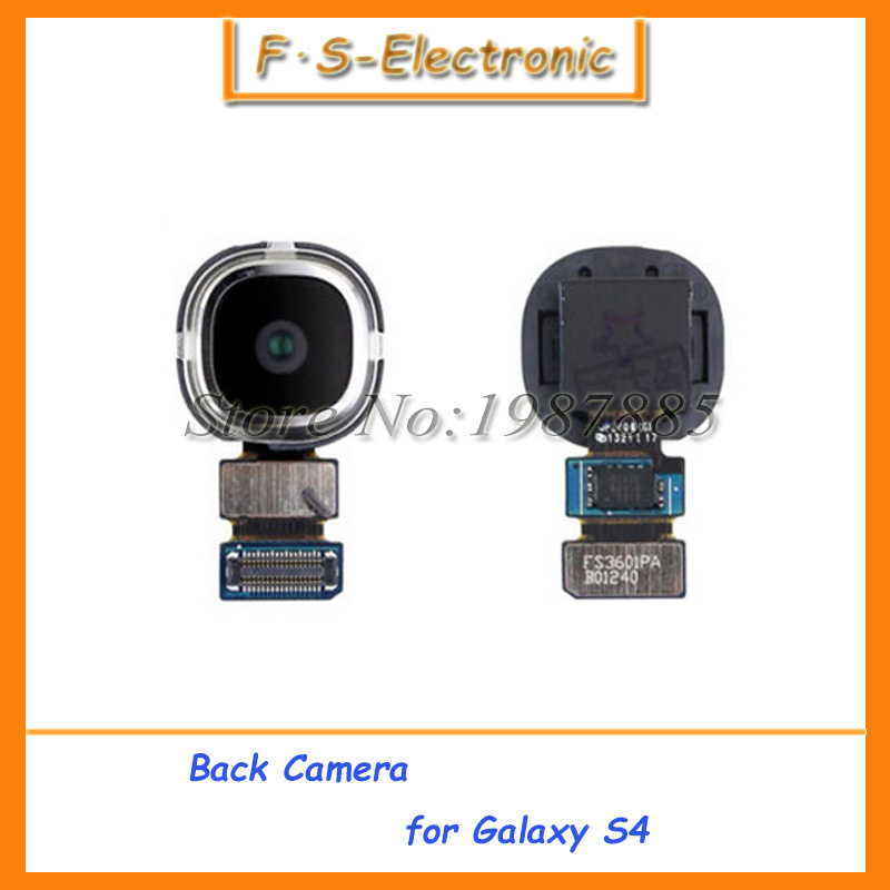 Free shipping High Quality Rear Back Main Big Camera Module for Samsung Galaxy S4 I9505 i9500 Replacement Parts