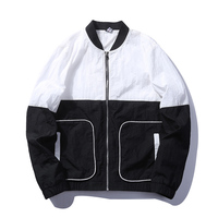 2017 Autumn Mens Casual Patchwork Hoodie Jacket Men Baseball Overcoat Clothes Men S Windbreaker Coat Male