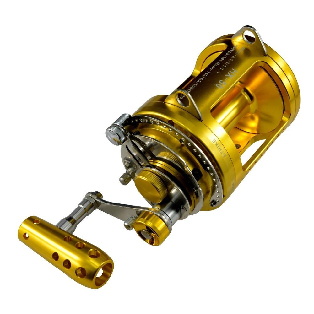 Gomexus saltwater fishing reel big game 50w 2 speed 97lbs for Tuna fishing reels
