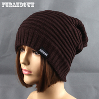 2018 Fashion Women Men Winter Warm   Beanie   Hats Ladies Striped Knitted Cap Fleece Hat   Skullies   Gorros mujer