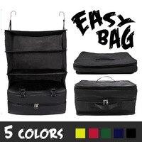 Multifunctional Clothes Storage Bag Home Portable Luggage System Hanging Travel Shelves 3 Layer Storage Bag Organizer
