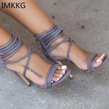 Hot sale Lace up Velvet Gladiator Women Sandals Summer Women