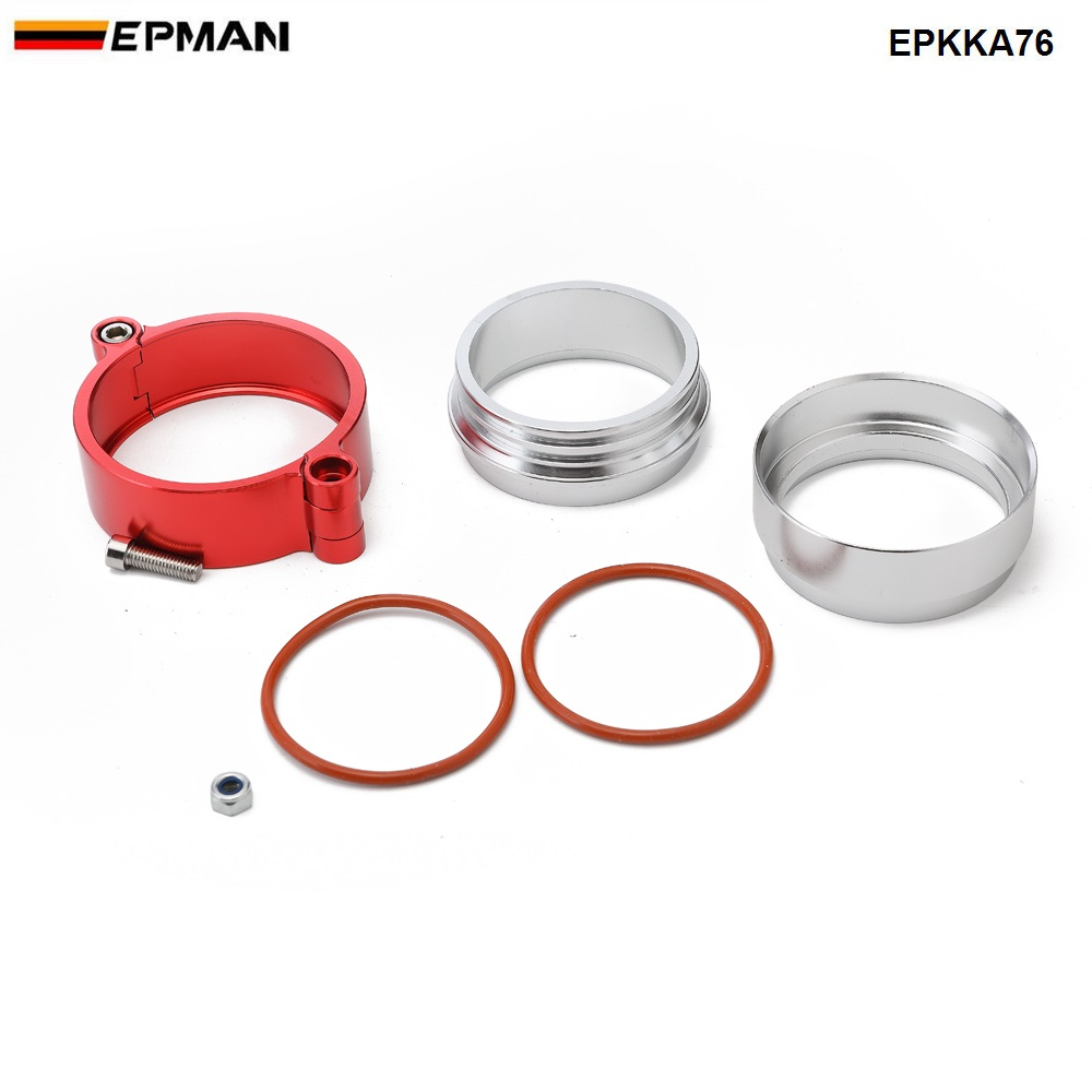 """Image 3 - Epman HD  Exhaust V band Clamp w Flange System Assenbly Anodized Clamp For 3"""" OD Turbo Dump Pipe EPKKA76-in Hangers, Clamps & Flanges from Automobiles & Motorcycles"""