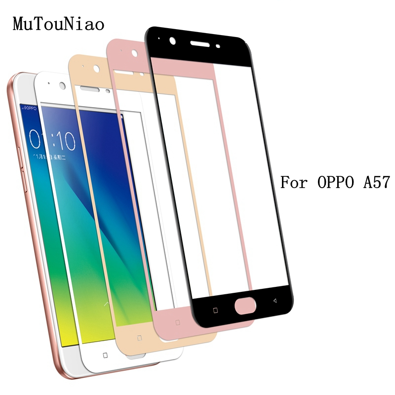 MuTouNiao For OPPO A57 2.5D Full Cover 9H Tempered Glass Screen Protector Anti-scratch Film For OPPO A57
