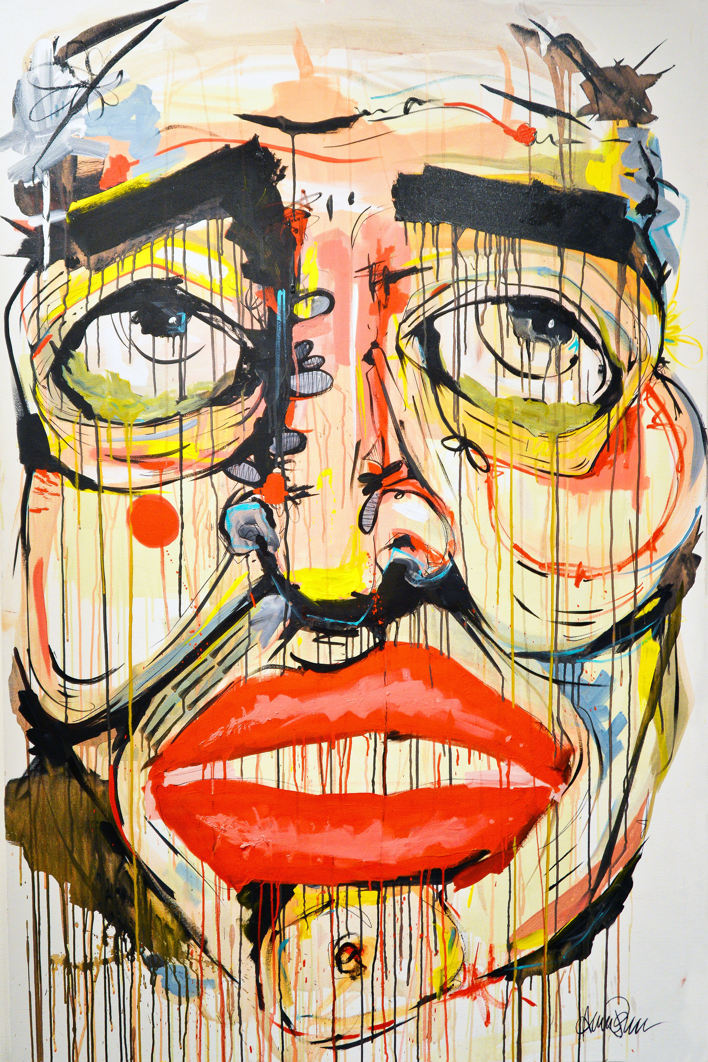 Home Decoration Artwork Painting Face Portrait Display Lips Colorful Emotions Paint Splatter Eyes Open Mouth Poster Qr101 Painting Faces Splatter Paintface Painting Poster Aliexpress
