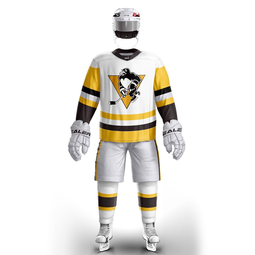 big sale f6303 a8e3f US $30.89 28% OFF|Coldoutdoor free shipping Pittsburgh Penguin ice hockey  jersey s Training wear in stock customized-in Hockey Jerseys from Sports &  ...