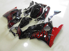 Red flames black Fairing kit for CBR600F2 CBR600 CBR600 F2 1991 1992 1993 1994 91 92 93 94 Motorcycle Fairings set HB88