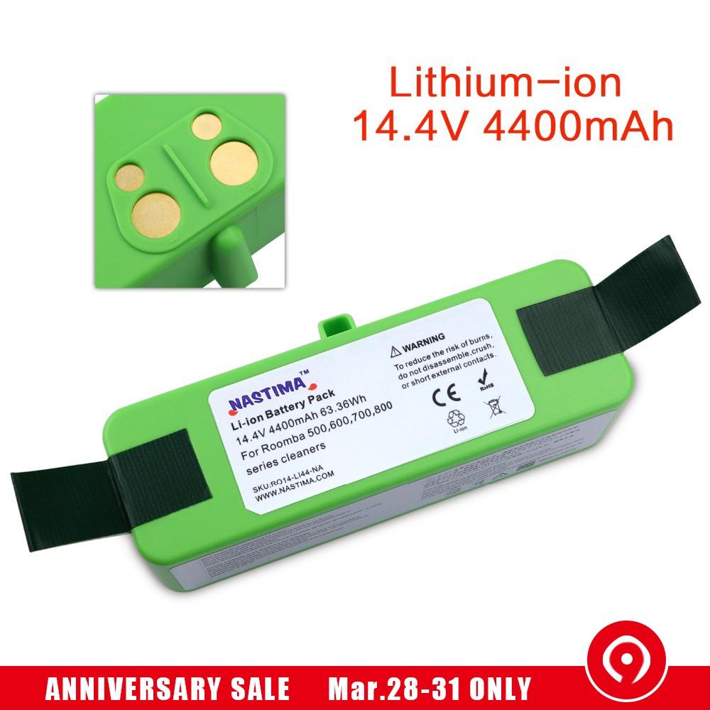 4400mAh Li ion Battery Compatible with iRobot Roomba R3 500 600 700 800 900 Series 500