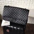 Бренд большой дорожная сумка для женщин высокого качества кожа большой макси jumbo сумки черный серебристый цепи лоскут сумка сумка