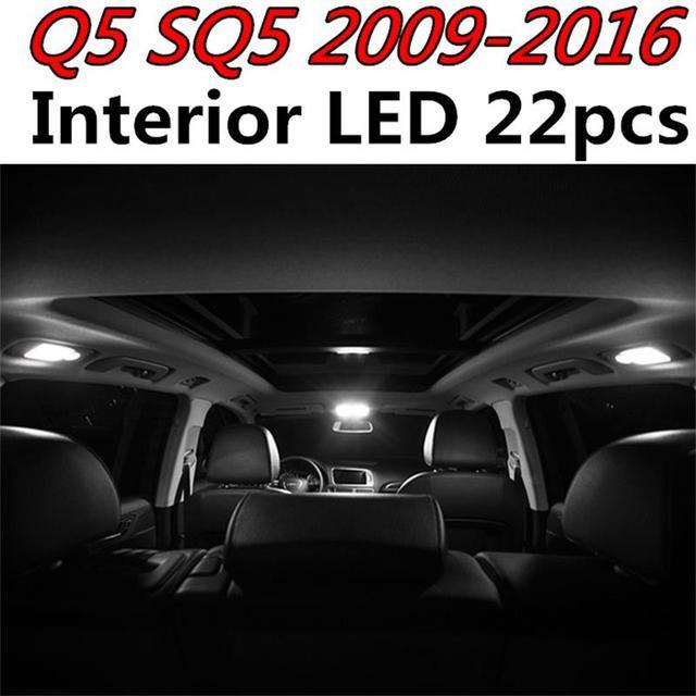 Tcart High Quality 22pcs Error Free Auto LED Bulbs Car Interior Light Kit  White Lamps For