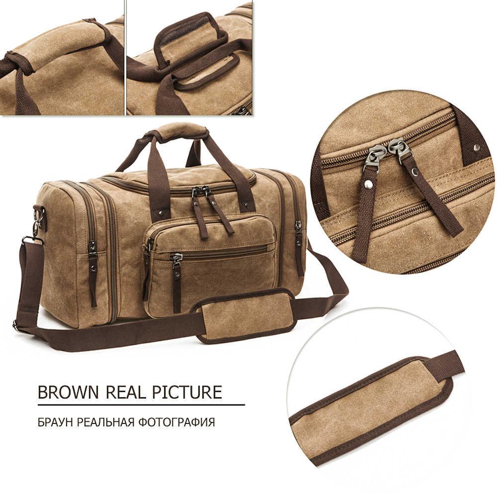 MARKROYAL męskie płócienne torby podróżne torby podróżne o dużej pojemności torby podróżne wiszące torby podróżne torba-worek nocny miękki
