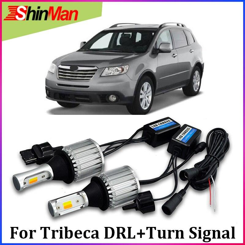 ShinMan Super bright cob LED daytime light day light led car drl turn signal light For Subaru Tribeca 2008-2014 Accessories