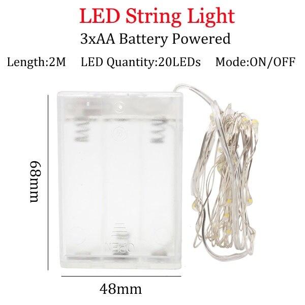 Светодиодный светильник-гирлянда s 10 м 5 м 2 м, серебряная гирлянда, украшение для дома, Рождества, свадьбы, вечеринки, питание от батареи 5 В, USB, сказочный светильник - Испускаемый цвет: 2m   3A  Battery