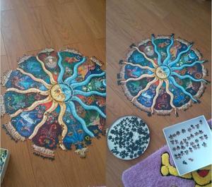 Image 2 - IPiggy Landschaft 500 Stücke Sternzeichen Horoskop Puzzle Spielzeug Sammlung DIY Konstellation Jigsaw Papier Puzzles hause dekoration
