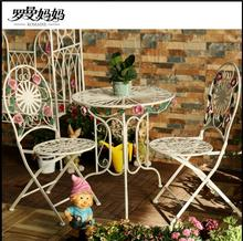 Balcony tables and chairs export north American foreign trade quality three pieces of iron art