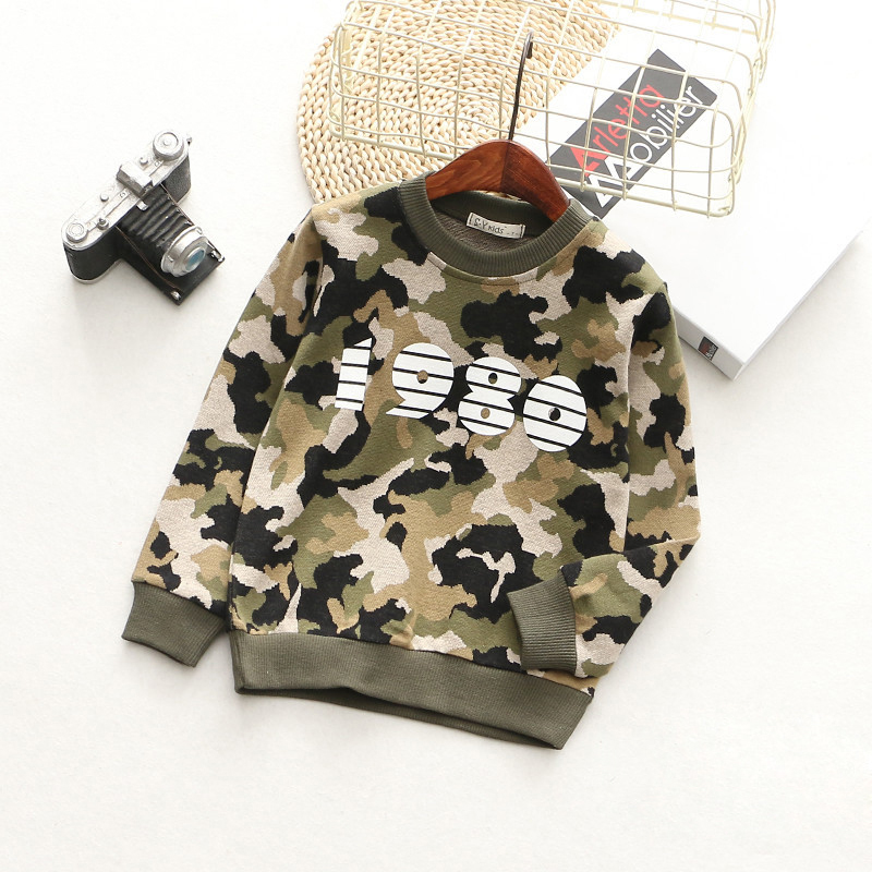 T-Shirts For Boys Girls Camouflage Cotton Kids Top Long Sleeve Toddler Pullover Clothes Digital Print T-Shirt Children Clothing (5)