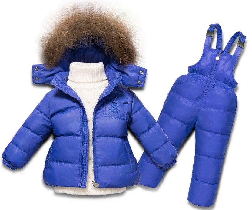 En Ji Ka children boys and girls down jacket suits overalls suit jacket thickened infant baby ka ji en girls down jacket boy child baby jacket wool tie cap thicker coat baby jacket