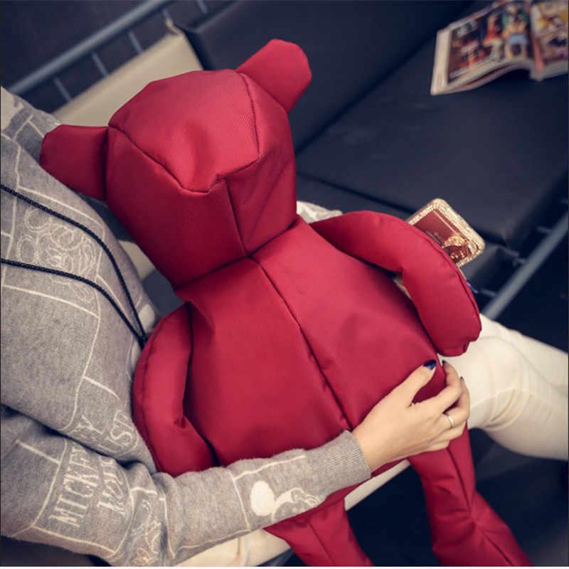 Kişilik moda kore versiyonu büyük ayı öğrenci sırt çantası kadın omuzdan askili çanta eğlence seyahat çantası