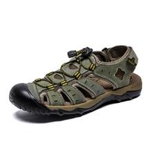 Summer Men's Sandals Fashion Classic Leather Casual Sandals Outdoor Light Amphibious Shoes Men's Beach Shoes Flat Shoes