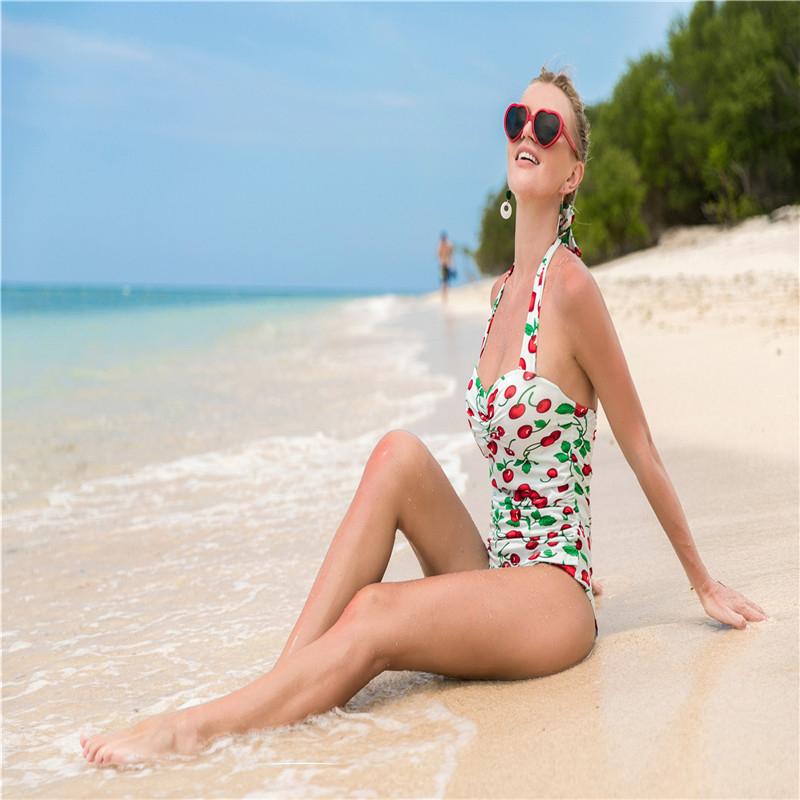 New hot summer fashion casual women 39 s triangle jumpsuit tube top holiday beach sexy print large size women 39 s jumpsuit in Bodysuits from Women 39 s Clothing