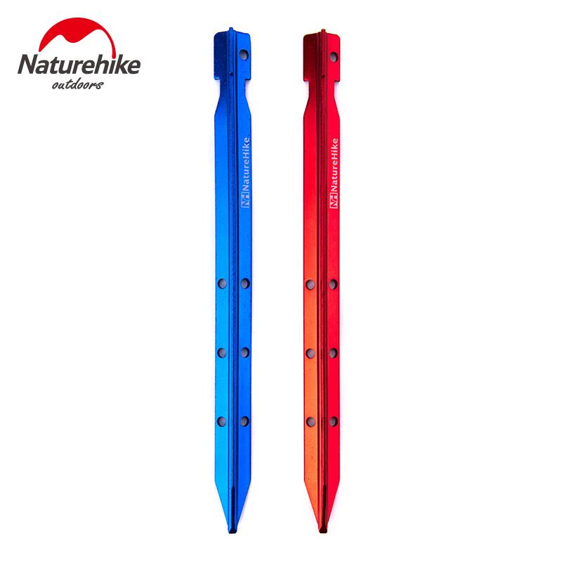 Naturehike 4/8pcs/pack Ultraligt 700I Aluminium Alloy Tent Peg Nail Stake with Rope Outdoor Camping equipment tent accessorie