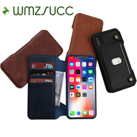 WMZSUCC Genuine Leather Retro Wallet Flip Two In One Lagging Cover Cases For Coque IPhone 6s