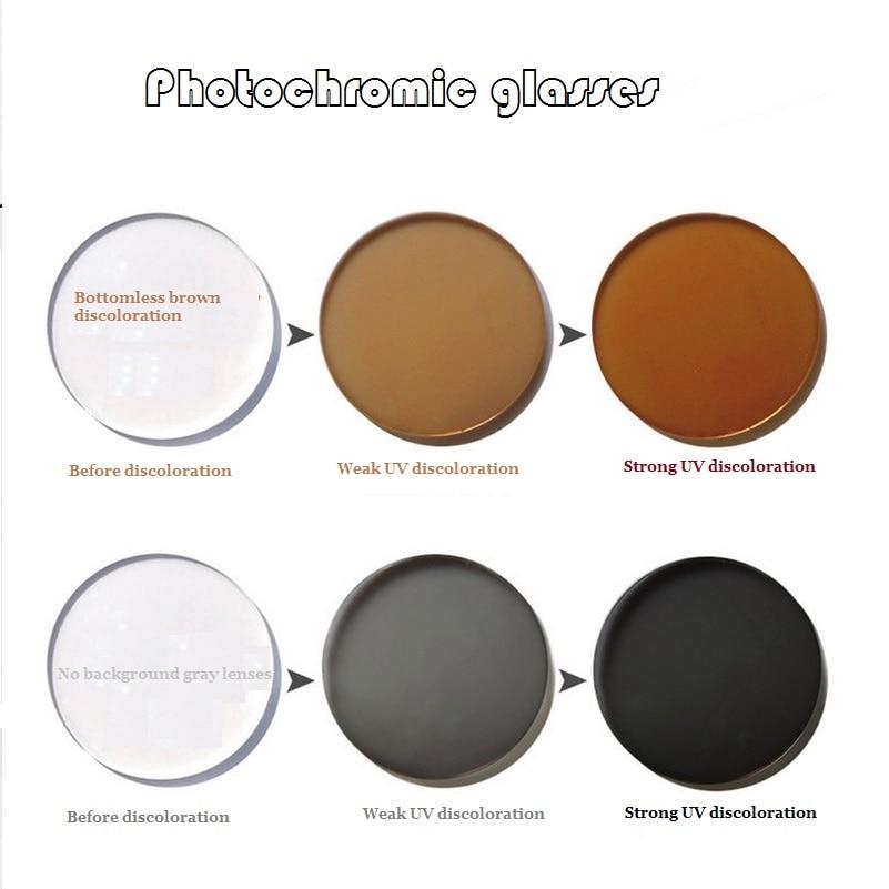 1,56 Asfärisk fotokromisk bruntgrå märke myopi glasögon linser - Kläder tillbehör - Foto 3