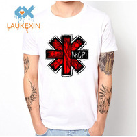 Polyester Shirts Red Hot Chili Peppers Men T Shirts Rock And Roll Cotton Mens White Mesh