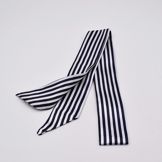Piccola Sciarpa di Seta per Le Donne 2019 Nuovo di Stampa Sacchetto Della Maniglia Nastri di Modo di Marca Testa Sciarpa Piccolo Lungo Skinny Sciarpe All'ingrosso 2