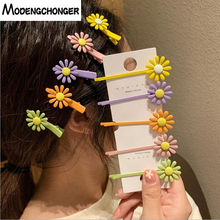 New Arrival Spring Color Hairpin Daisy Flower Hair Clips Hairgrip Barrettes Star Bangs Fashion Woman Girl Accessories
