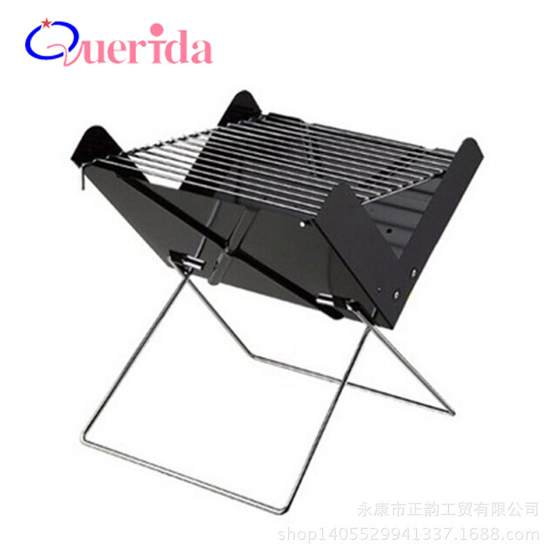 Korean Portable Iron Plate BBQ Grill Mini Family Barbecue Folding Outdoor 2 People Charcoal Tool Grill Barbecue Tools