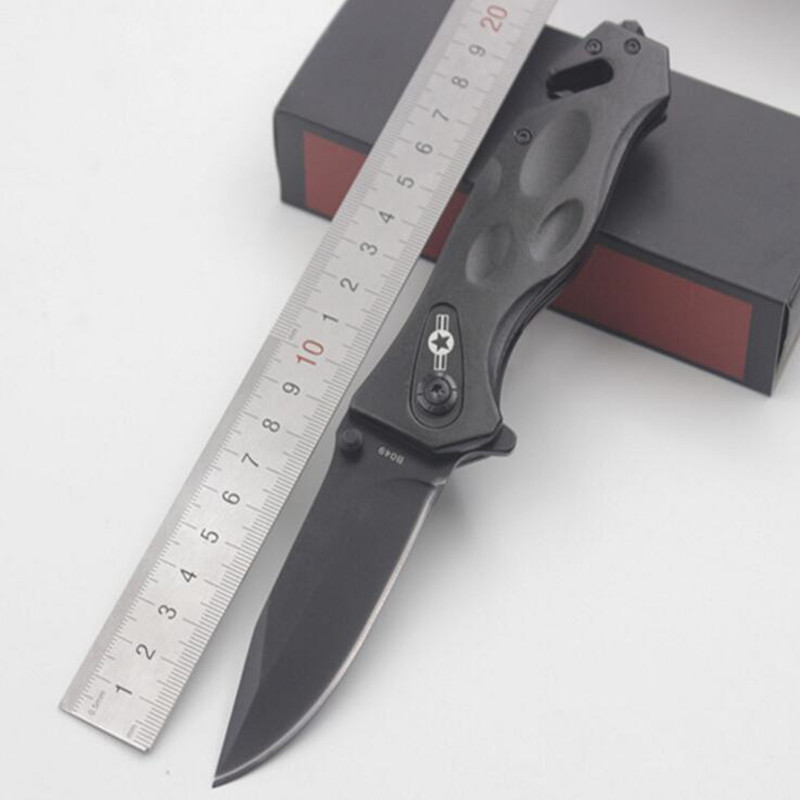 56RHC Folding Blade font b Knife b font CS GO Outdoor Survival Camping 440 Military font