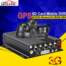 Car Camera Dvr Recorder Kits With 3G +GPS Function Mobile Dvr Black Box Real Time PC/Phone Remote Monitoring I/O Alarm
