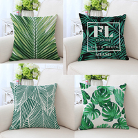 Africa Tropical Plant Palm Leaf Cushion Covers Cotton Linen Pillow Cases Creative Flowers Plants For Sofa