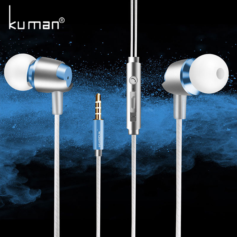 Kuman Sport Headsets In Ear Earphone with Microphone Super Bass Headset For iphone xiaomi huawei Phone PC Gaming YL-HW4