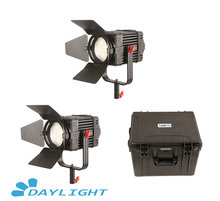 2 Pcs CAME TV Boltzen 100w Fresnel Fanless Focusable LED 일광 키트 Led 비디오 라이트