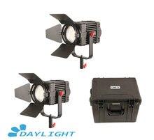 2 pçs CAME TV boltzen 100w fresnel fanless focusable led luz do dia kit led vídeo luz