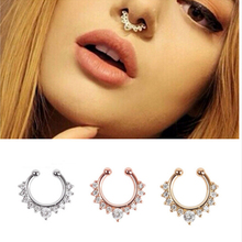 New Arrival Alloy Nose Hoop Nose Rings Body Piercing Jewelry Fake Septum Clicker Non Piercing Hanger Clip On Jewelry