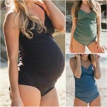 603dc2353 Maternidad mujer traje de baño una pieza más tamaño embarazo traje de baño  playa verano Bikini traje de baño ropa para mujeres e.