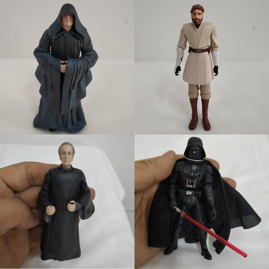 Free Shipping Original Star Wars Biggest Villain Palpatine And Darth Vader And Obi-Wan Kenobi Model PVC Toy Action Figure Doll