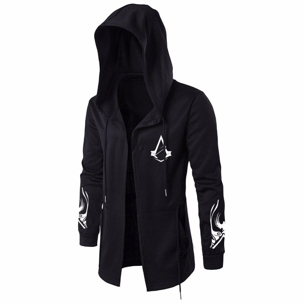 buy assassin creed hoodies men black. Black Bedroom Furniture Sets. Home Design Ideas