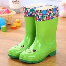 Детская водонепроницаемая обувь; водонепроницаемые детские резиновые сапоги; яркие цвета; теплые резиновые сапоги для мальчиков и девочек; детская непромокаемая обувь