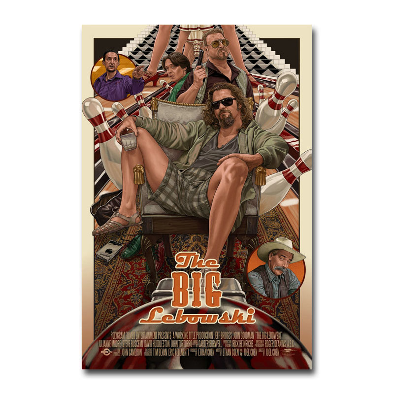 Art Silk Or Canvas Print The Big Lebowski Hot Movie Poster 13x20 24x36 Inch For Room Decor Decoration-002