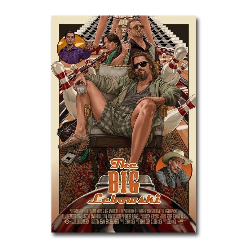 Художественный шелковый или парусиновый постер с большим Lebowski, популярный постер для фильма 13x20 24x36 дюймов, украшение для комнаты 002|Рисование и каллиграфия|   | АлиЭкспресс