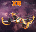 Yizhan Golden X4 4CH 2.4G 6 Axis Radio Controll Quadcopter Model Toys UFO 3D Flying Saucer Transmitter with LCD Display