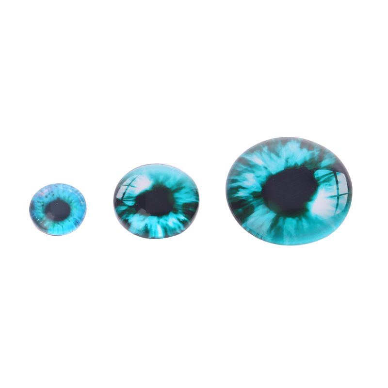 20PCs 8//12//18mm Handmade Glass Doll Eyes Animal DIY Craft Eyeballs Dinosaur Eyes