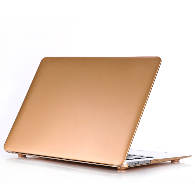 official photos 7ba4b a9e94 US $11.46 25% OFF|Printing Gold Hard Shell Cover Case For Apple Macbook Air  11 13 Pro 13 15 Retina 12 13 15 For MacBook Air 13 Laptop Case-in Laptop ...