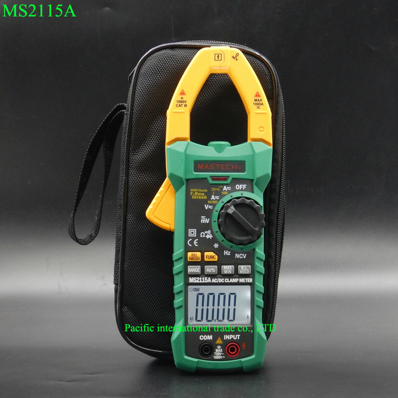 Digital Clamp Meter MASTECH MS2115A ACDC 1000A auto range clamp meter Multimeter measured clamp current meter tester