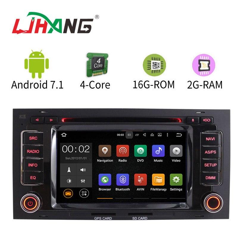 LJHANG 2G+16G Android 7.1 WIFI Car DVD For VW Touareg Multivan T5 2002 2010 GPS Navigation Radio audio Steering Wheel Control